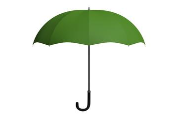 Green umbrella isolated