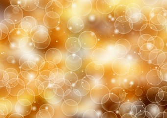 Colorful bokeh lights with blurred background. Holiday card background.