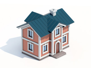 House icon 3d rendering