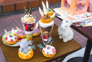 Fake food display in Tokyo