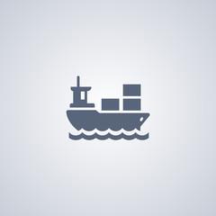 Ship icon, transportation icon