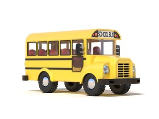 School bus 3d rendering