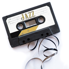 jazz musical genres audio tape label
