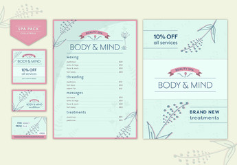 Spa, Health, and Wellness Stationery Branding Pack