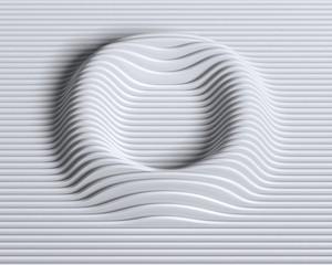 Linear 3d font letter O