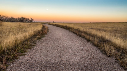 The Trail at Dusk Wall mural