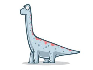 Cartoon Funny Brachiosaurus