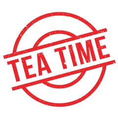 Tea Time rubber stamp. Grunge design with dust scratches. Effects can be easily removed for a clean, crisp look. Color is easily changed.