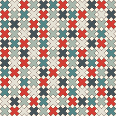 Simple modern print with crosses. Minimalist seamless surface pattern. Abstract background with geometric ornament.