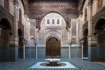 Wall Murals Morocco Interior of an ancient school in Morocco