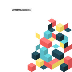 Abstract modern isometric geometric composition background