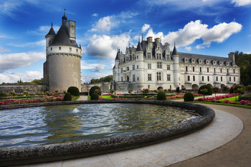 Gardens, Chateau de Chenonceau, Loire Valley, France