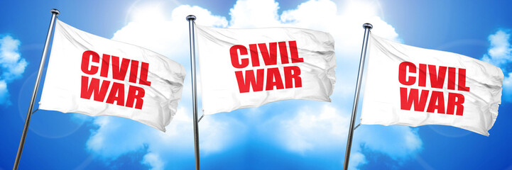 civil war, 3D rendering, triple flags