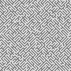 Abstract seamless geometric pattern. Maze background.