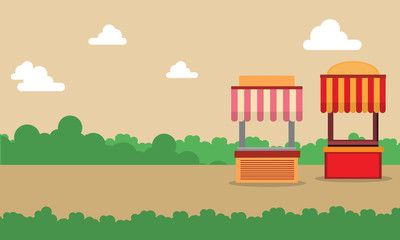 Street stall design landscape background