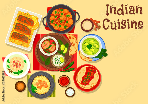 Indian cuisine dinner with cream dessert icon stock image and indian cuisine dinner with cream dessert icon forumfinder Choice Image
