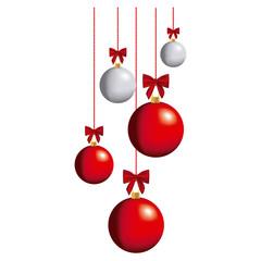 color christmas balls hanging icon, vector illustraction design