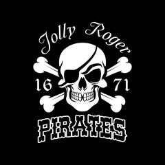 Pirate skull and crossbones, Jolly Roger symbol