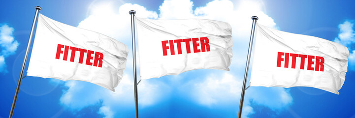 fitter, 3D rendering, triple flags