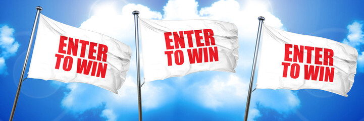 enter to win, 3D rendering, triple flags