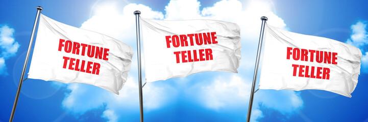 fortune teller, 3D rendering, triple flags
