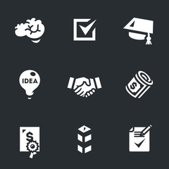 Vector Set of Contract job Icons.