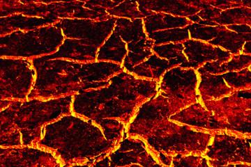 Lava ground texture background, Global warming.