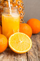 fruit juice, pineapple and citrus fruits.
