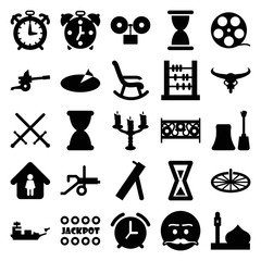 Set of 25 old filled icons