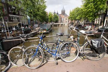 Deurstickers Fiets amsterdam olanda