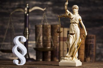Statue of lady justice, Law concept and paragraph