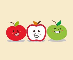 happy three apple