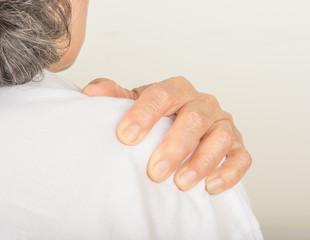Shoulder pain in old women