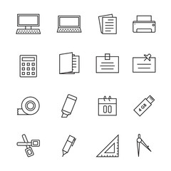 icon office, vector