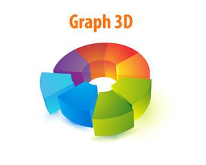 Pie Chart  vector 3D.