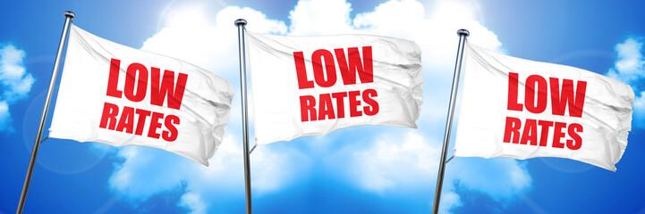 low rates, 3D rendering, triple flags