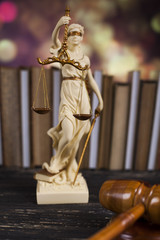 Statue of lady justice, Law concept