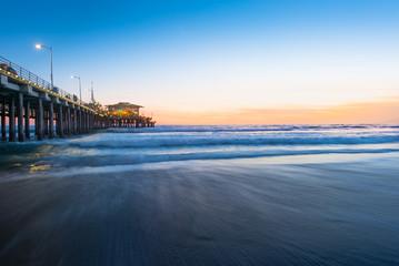 Santa Monica pier beach at sunset Wall mural