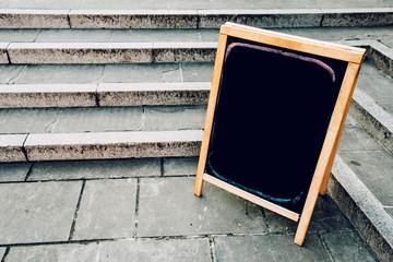 Blank restaurant or bar menu chalkboard