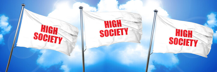 high society, 3D rendering, triple flags