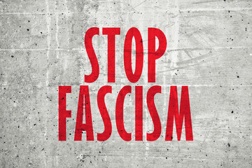 Stop fascism message