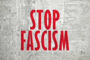 Stop fascism message