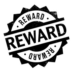 Reward rubber stamp. Grunge design with dust scratches. Effects can be easily removed for a clean, crisp look. Color is easily changed.