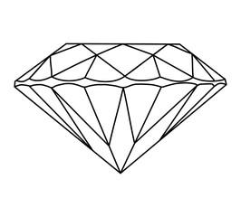 Gemstone vector icon