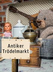 Antiker Trödelmarkt Schild