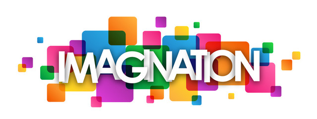 IMAGINATION Colourful Vector Letters Banner