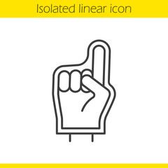 Foam finger linear icon
