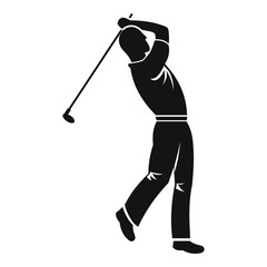 Golf player icon, simple style
