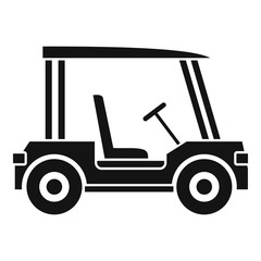 Golf club vehicle icon, simple style