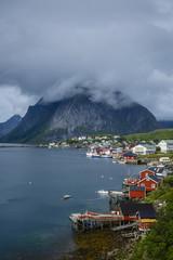 View over Reine, Lofoten Islands, Norway.